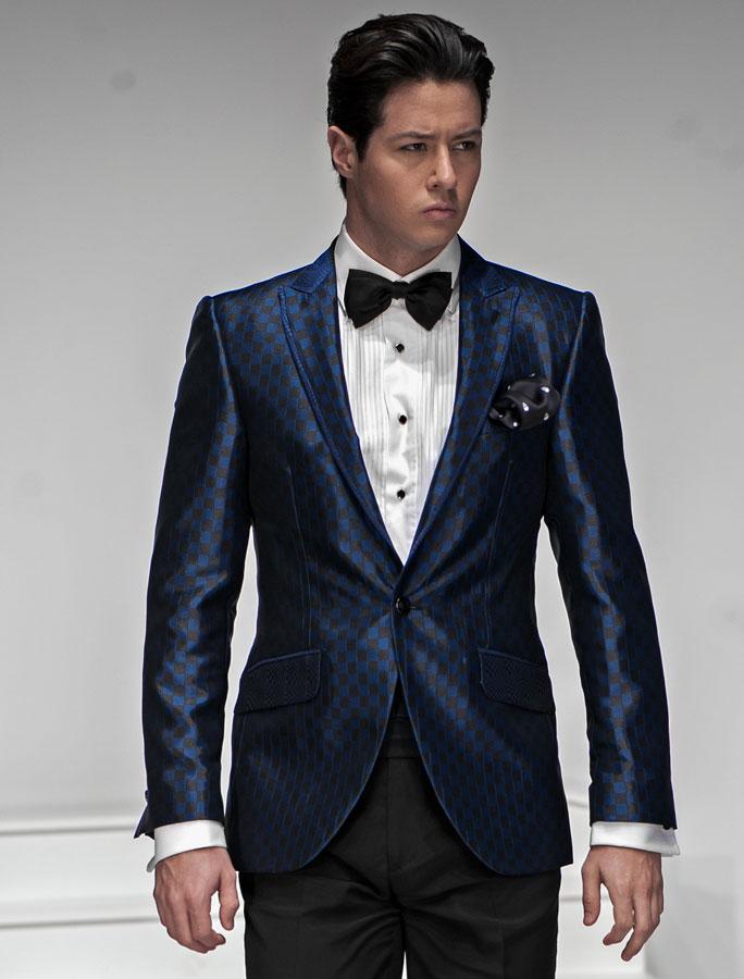 black suit and blue tie - photo #15