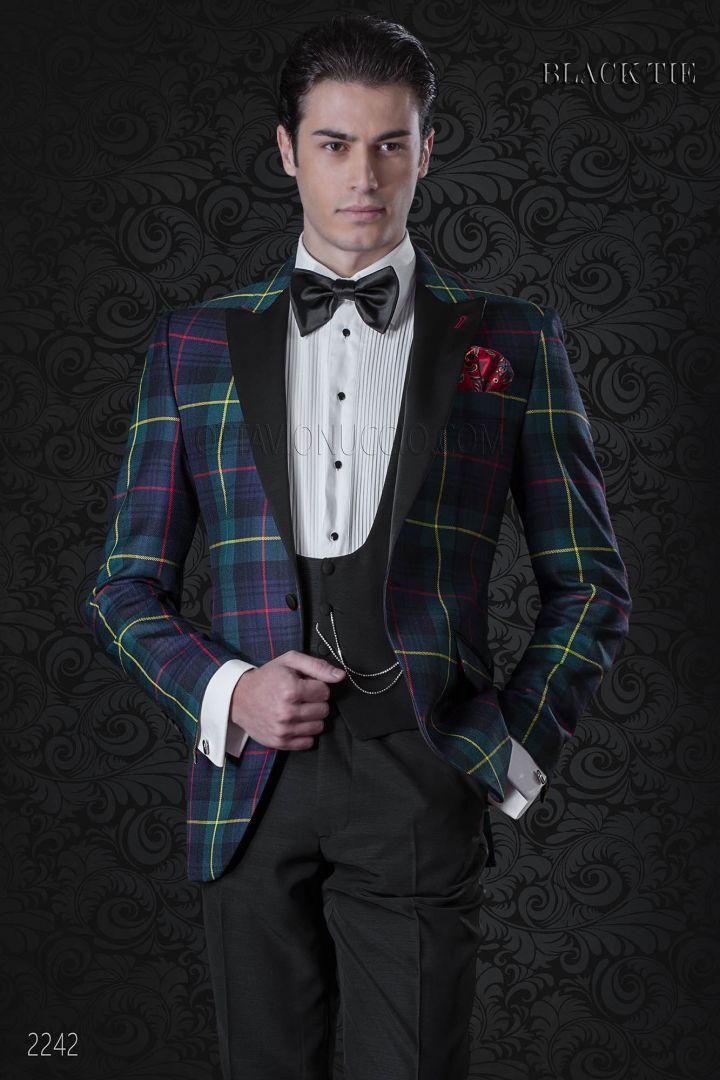 Smoking veste écossais italien pour events de gala