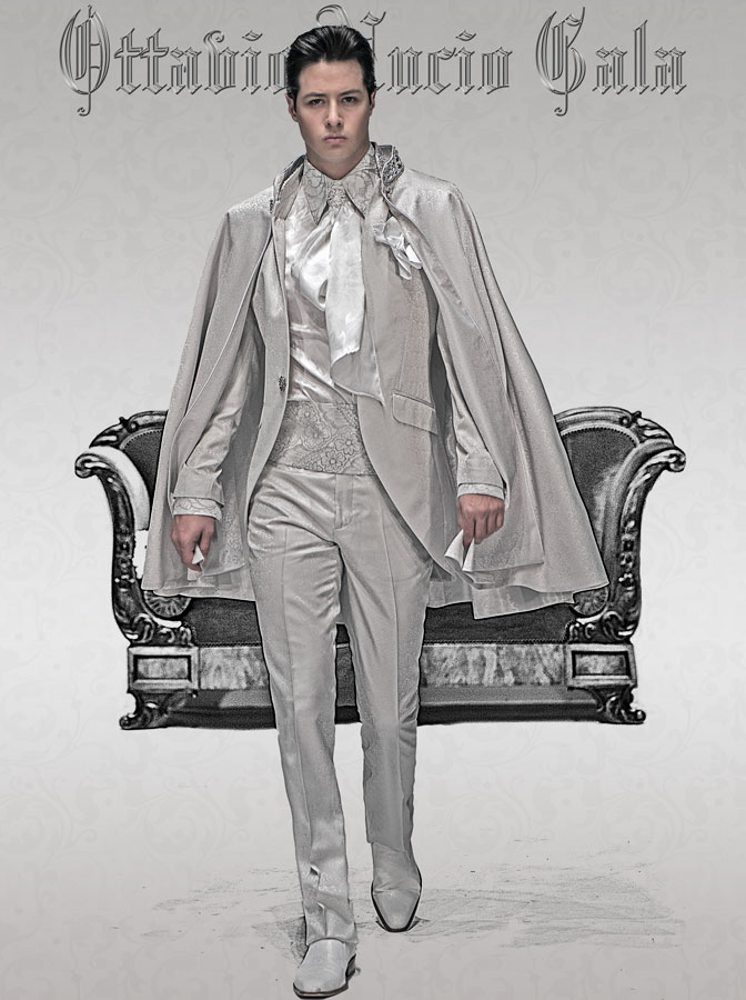 coat with collar rhinestones and baroque coat, combined with white ...