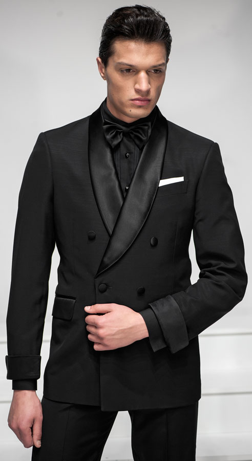 Tuxedo italian formal wear model bt04 178 ottavio for Black suit with black shirt and tie