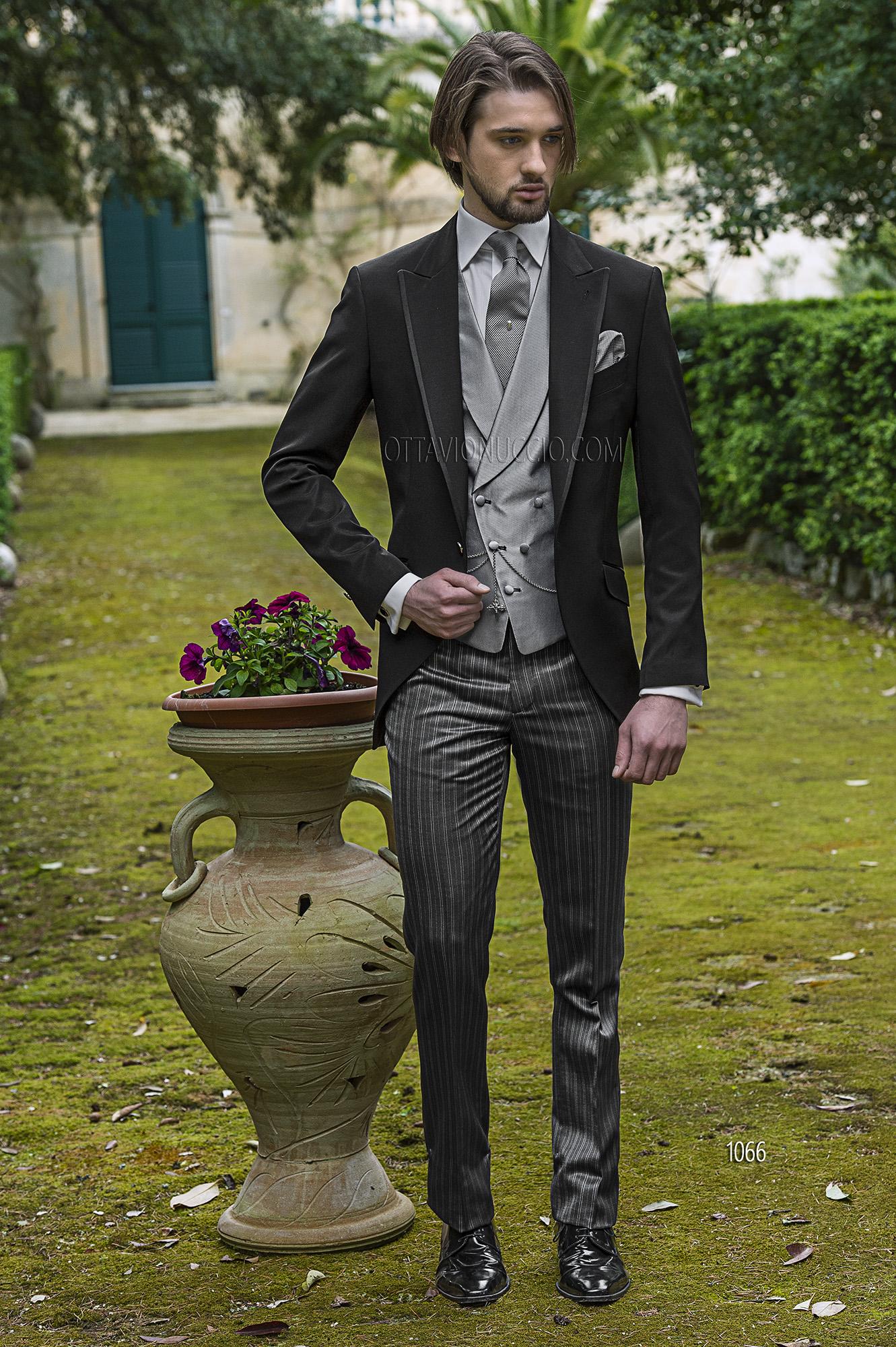 Abito Matrimonio Uomo Vintage : Abito da cerimonia uomo demi tight nero
