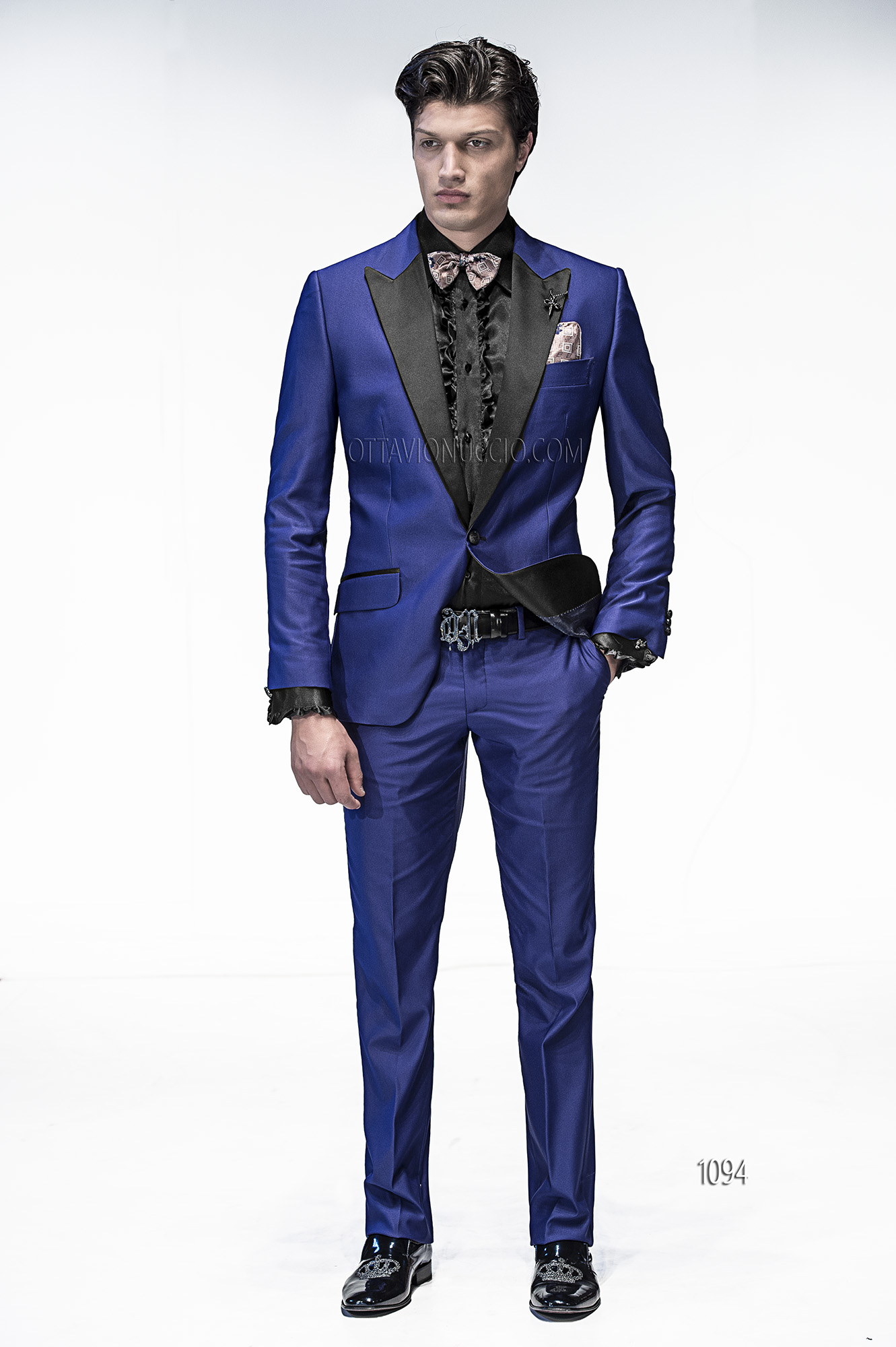 Wedding Suits for groom in Royal Blue Viscose Blend