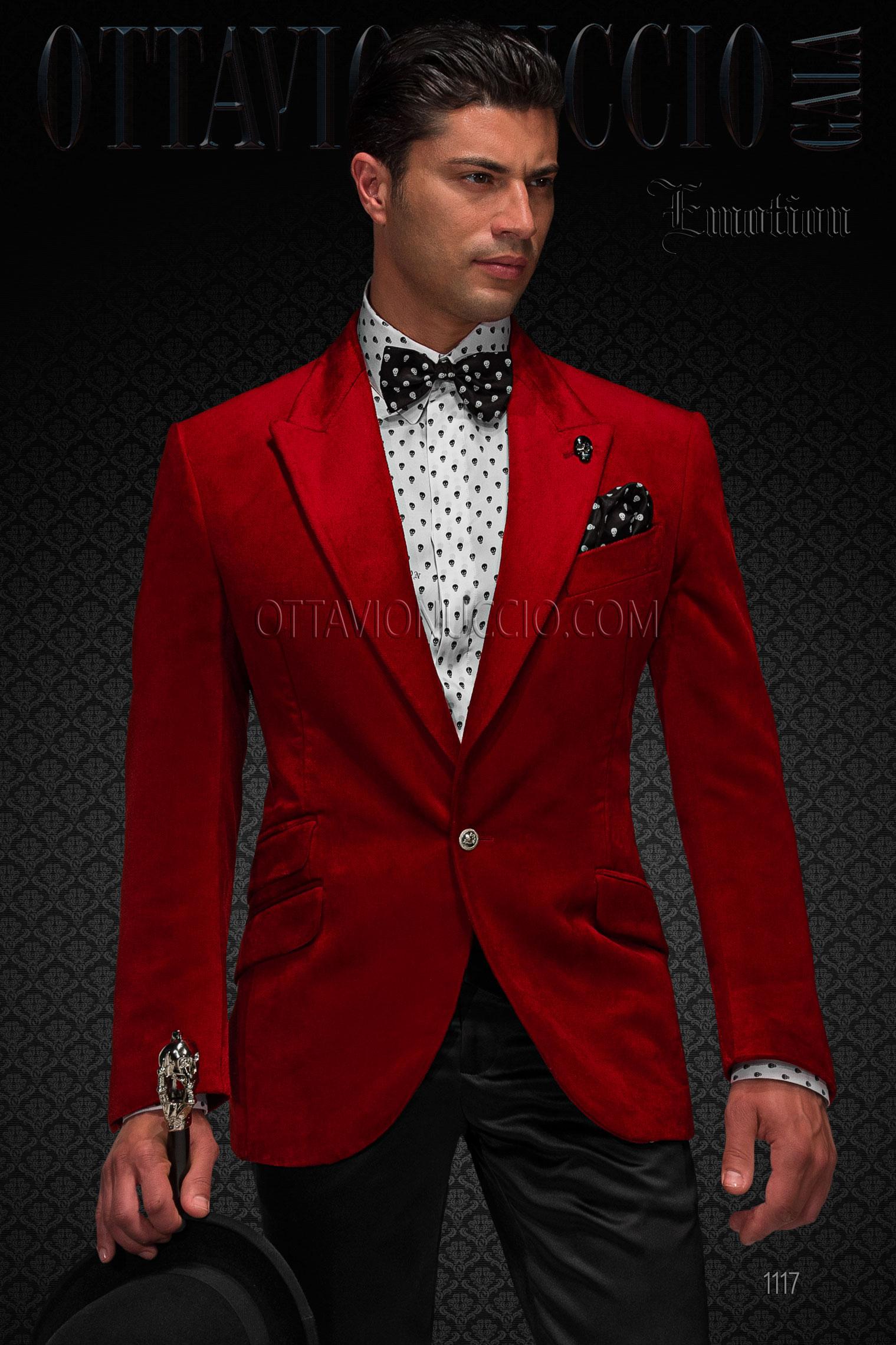 Vestito Matrimonio Uomo Rosso : Abito da cerimonia uomo in raso rosso