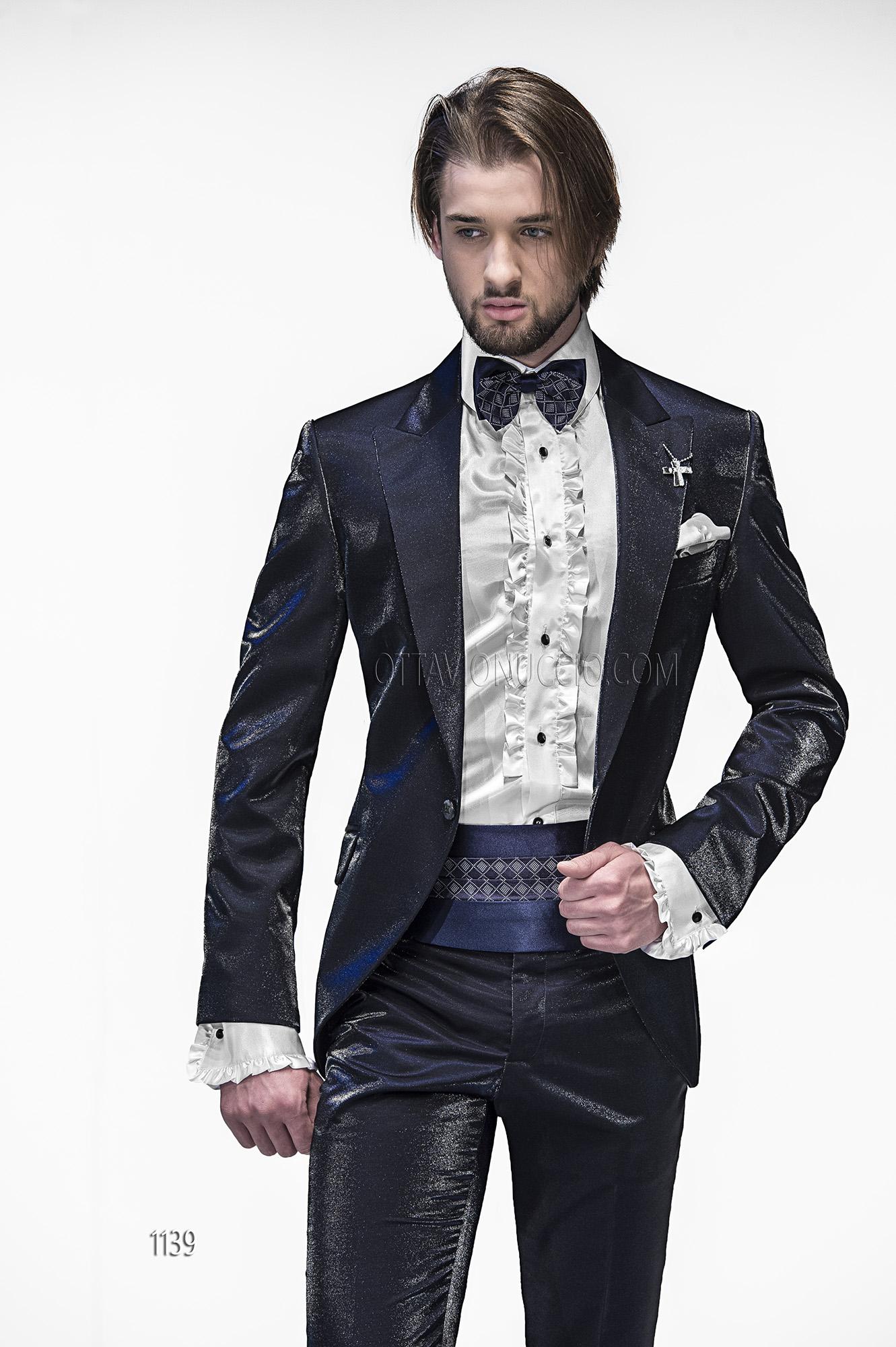 Shiny Blue Fashion Suits for Men