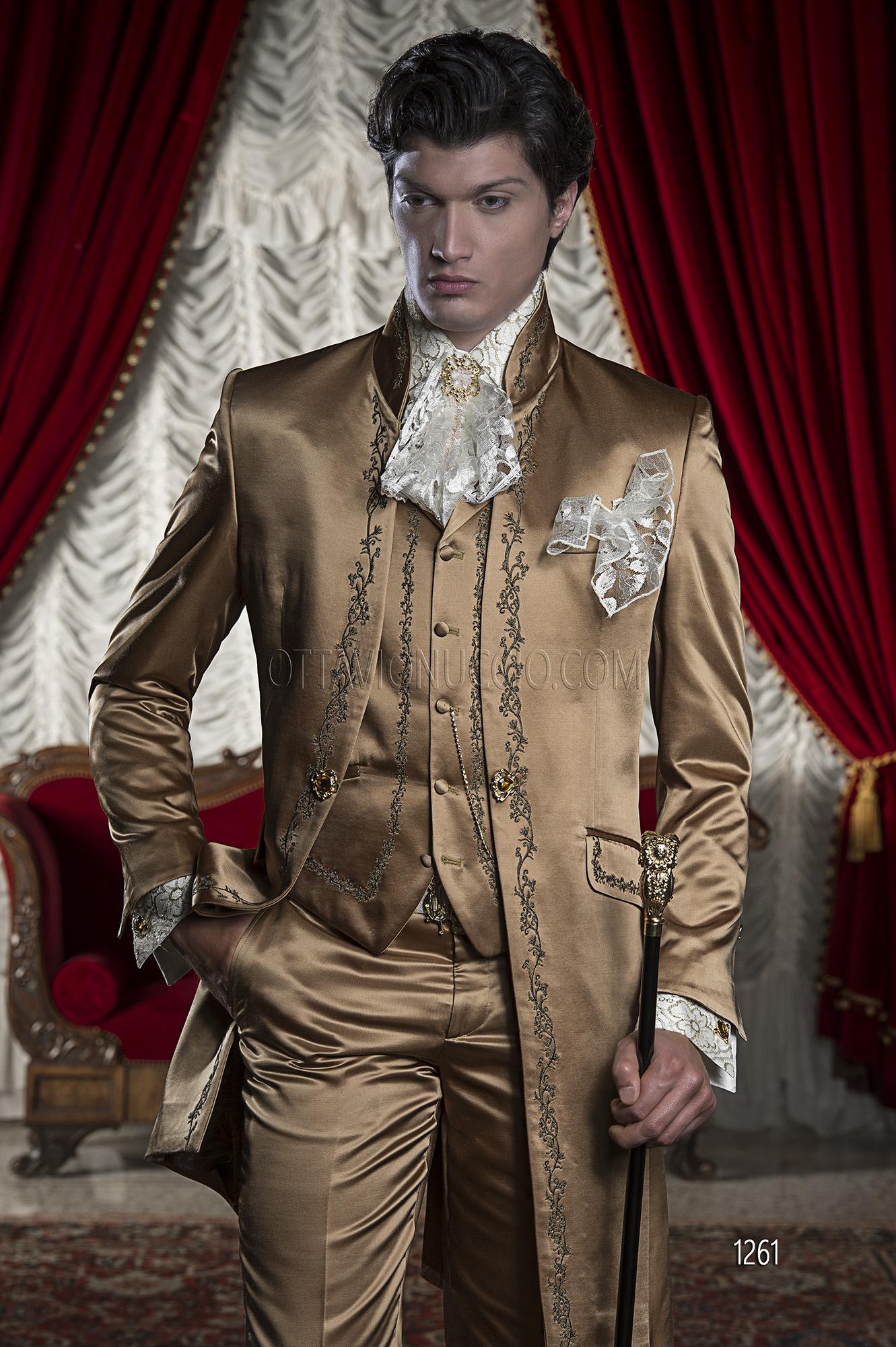 Vestito di raso uomo
