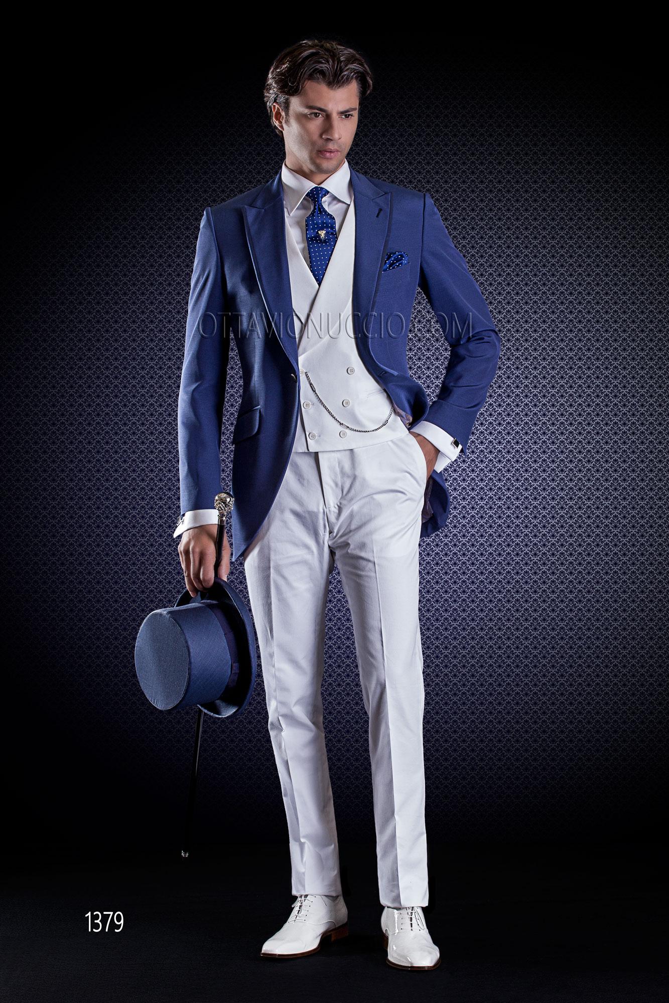 Vestito uomo spezzato blu e grigio