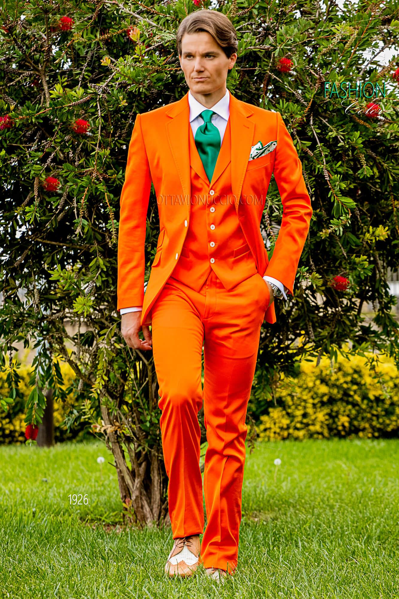 Abito Matrimonio Uomo Hipster : Vestito sposo uomo hippie arancione