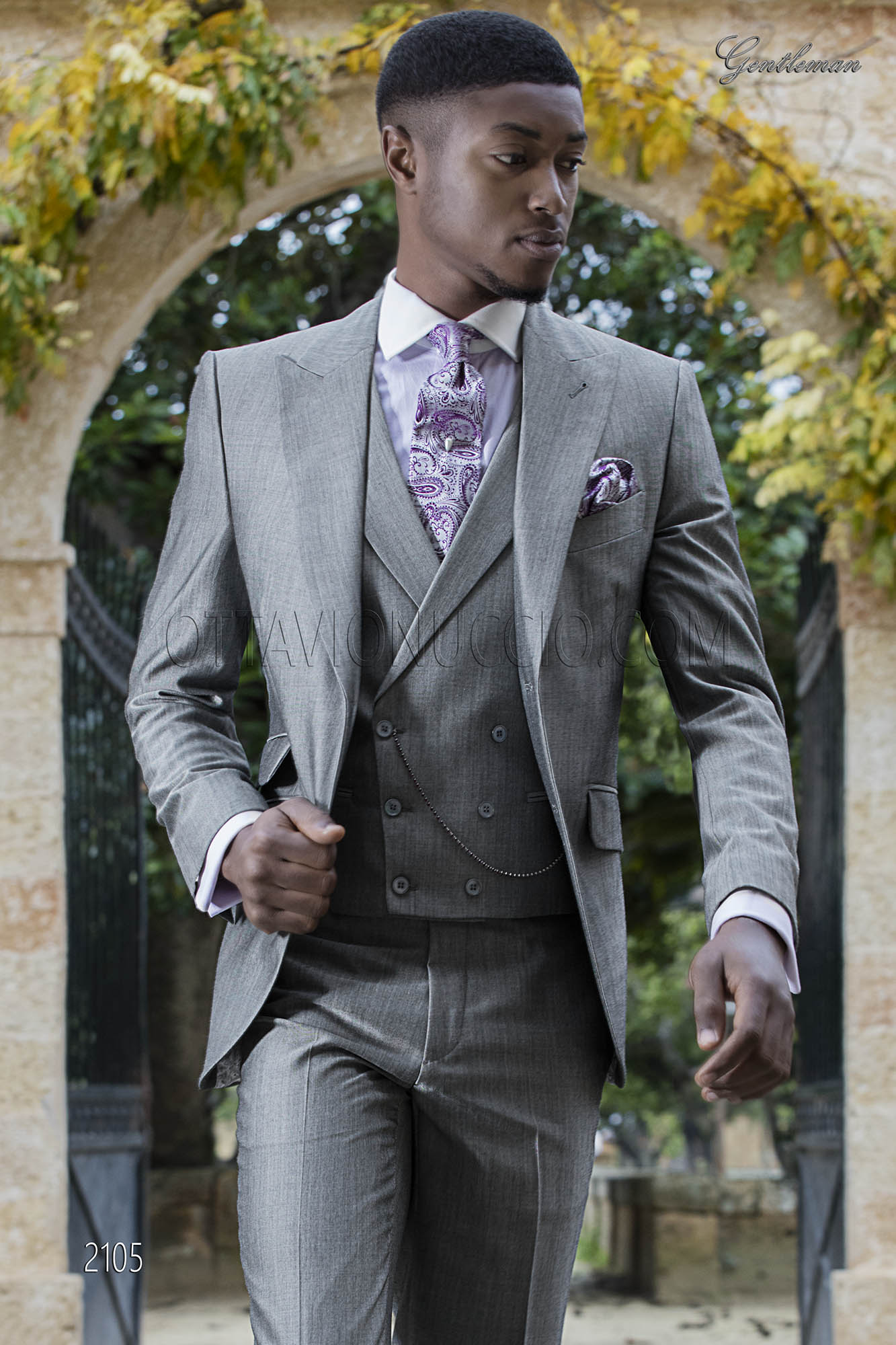 Costume de mariage moderne pour homme de laine mohair gris c1e22d9886f
