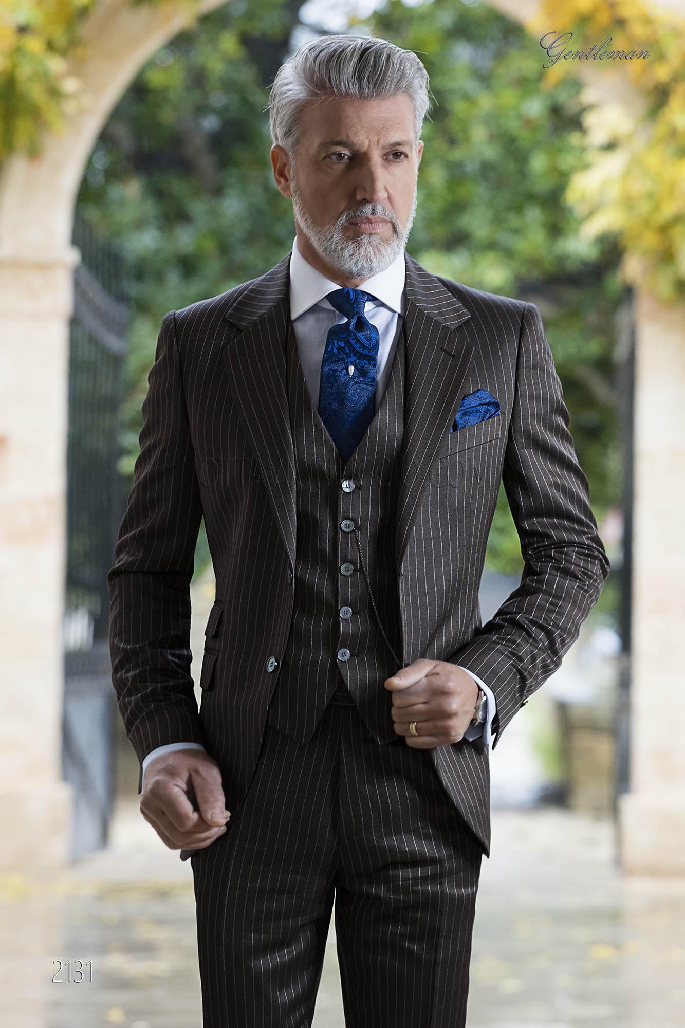 Abito Matrimonio Uomo Marrone : Abito da cerimonia marrone moda uomo fashion