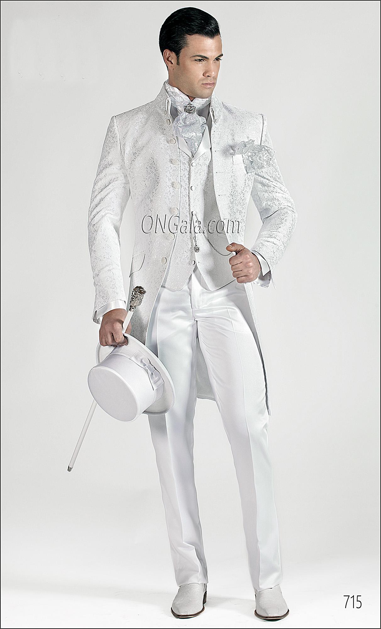 Vestito Matrimonio Uomo Con Cilindro : Vestito da sposo uomo bianco abito da sposo bianco con giacca