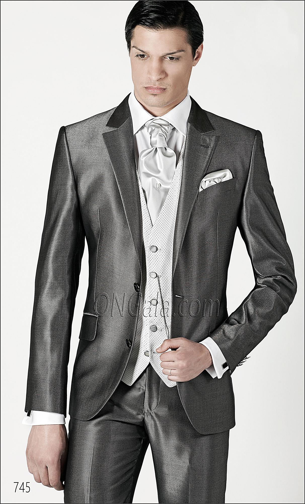 Metallic Grey italian fashion suits