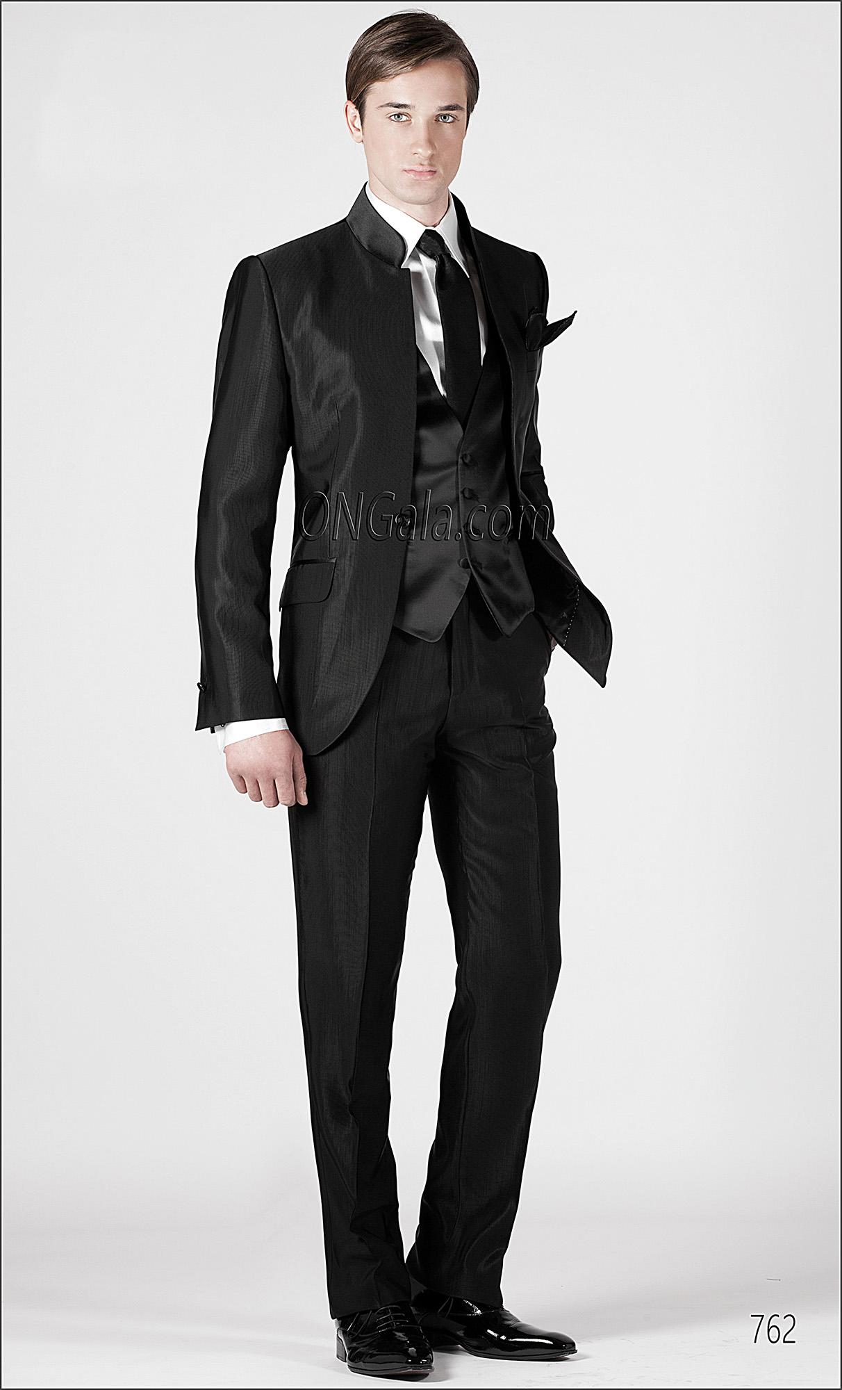 italienischer br utigam anzug schwarz aus faille stoffen. Black Bedroom Furniture Sets. Home Design Ideas