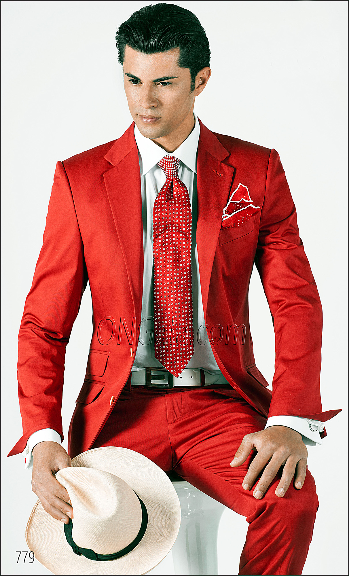Abito Matrimonio Uomo Rosso : Abito uomo impunturato in cotone rosso