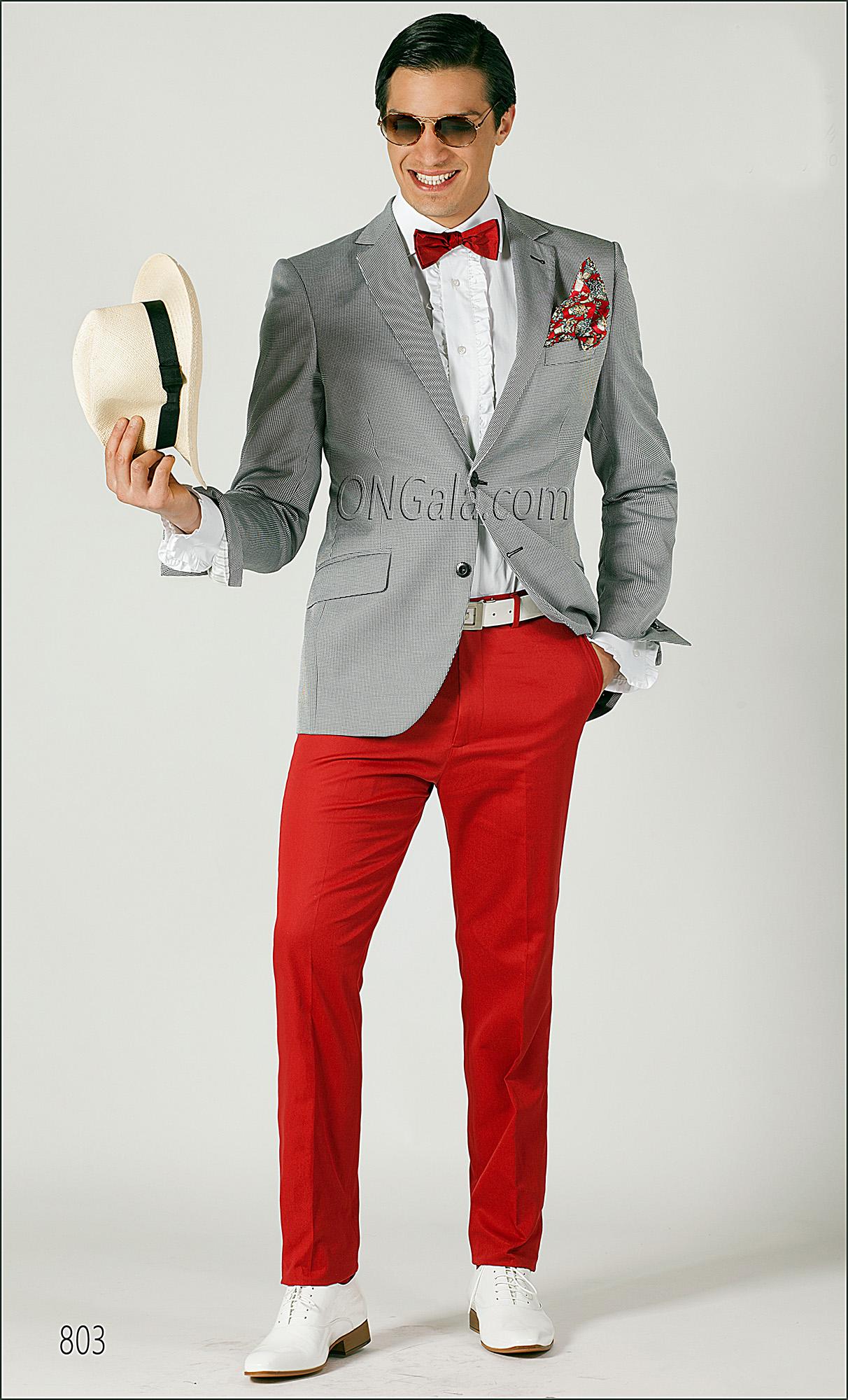 Moda Pied Con Di E Giacca Abito Rosso De Cotone Pantalone Poule kXiOPZTwul