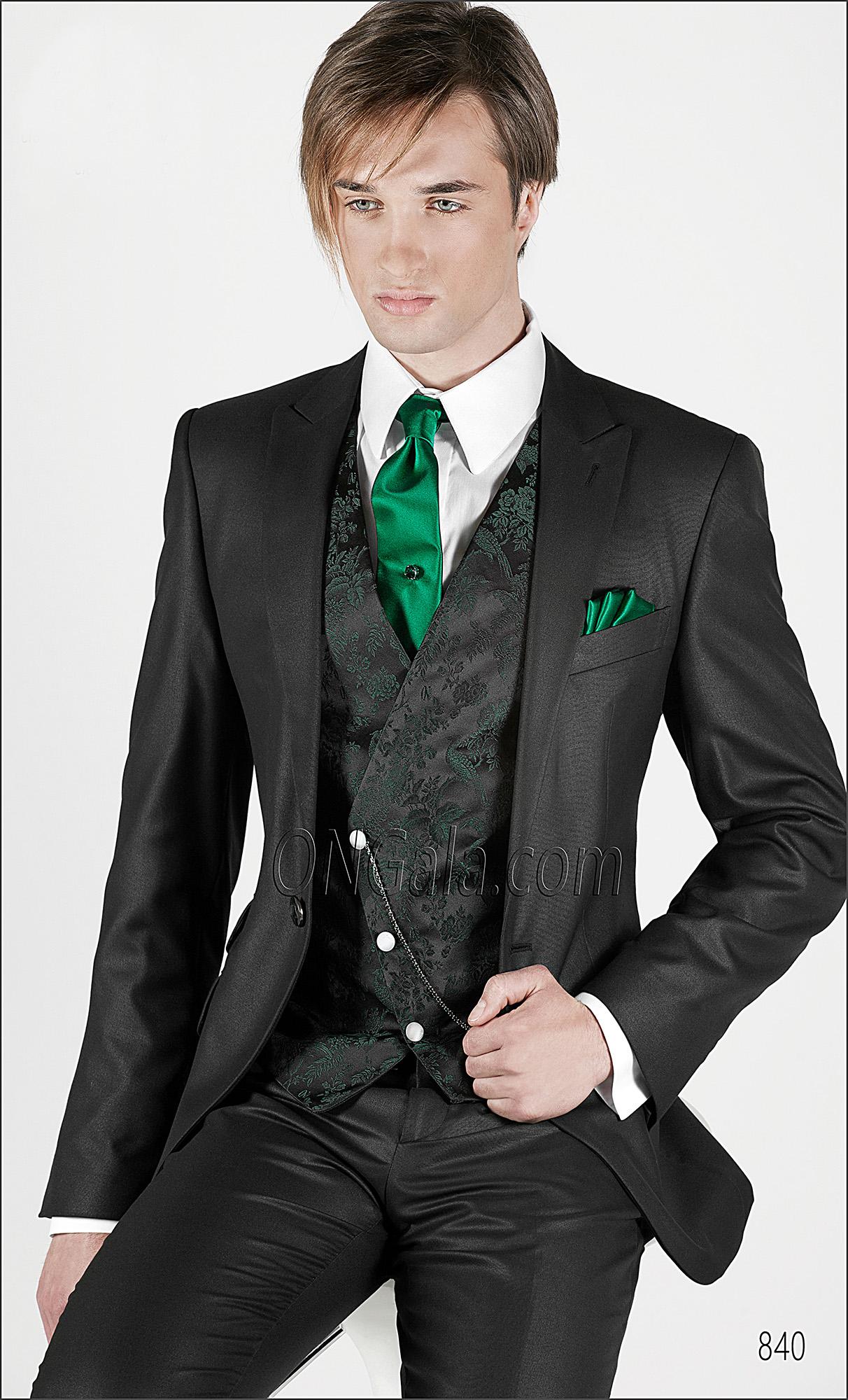 Abito Matrimonio Uomo Verde : Abito da cerimonia uomo con ticket pocket gilet