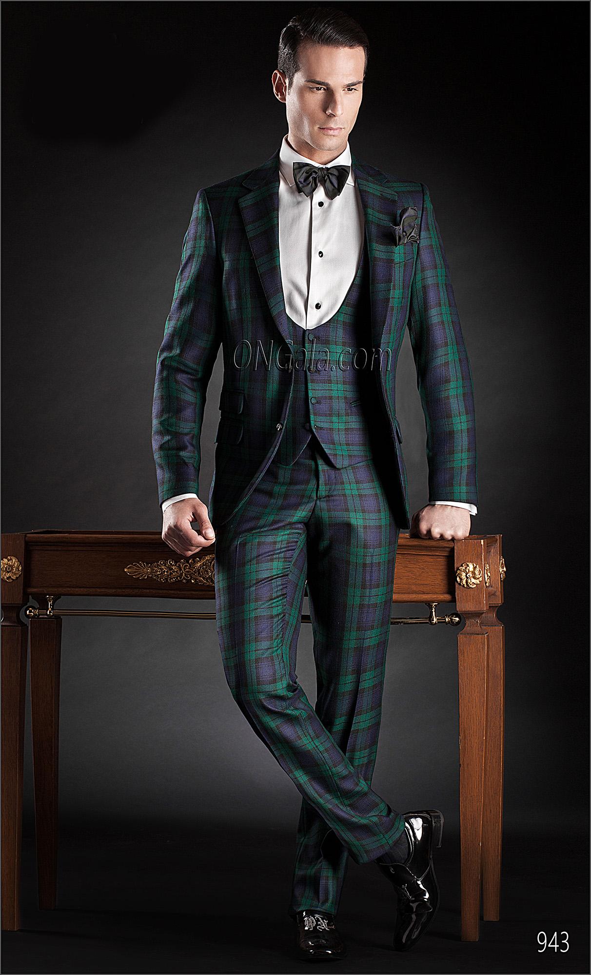 Blue And Green Tartan Suit Hardon Clothes
