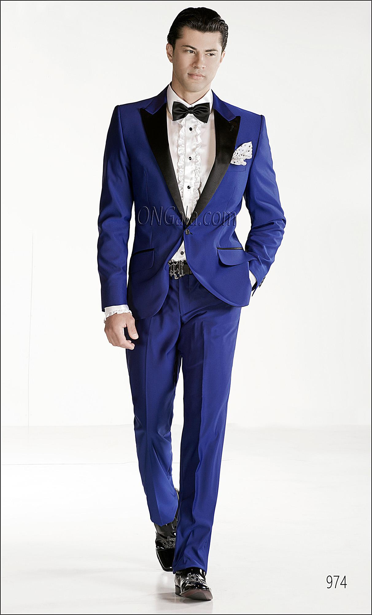 Vestito blu cerimonia uomo