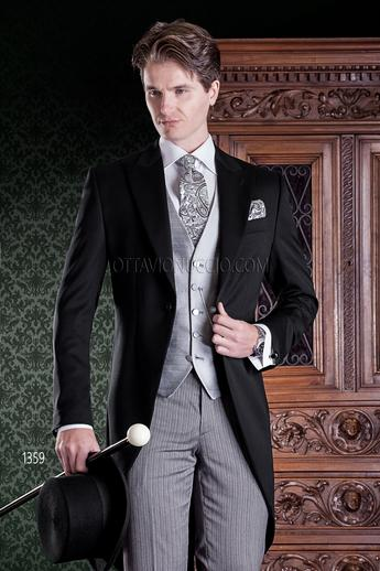 ONGala 1359 - Traditional black Italian morning suit