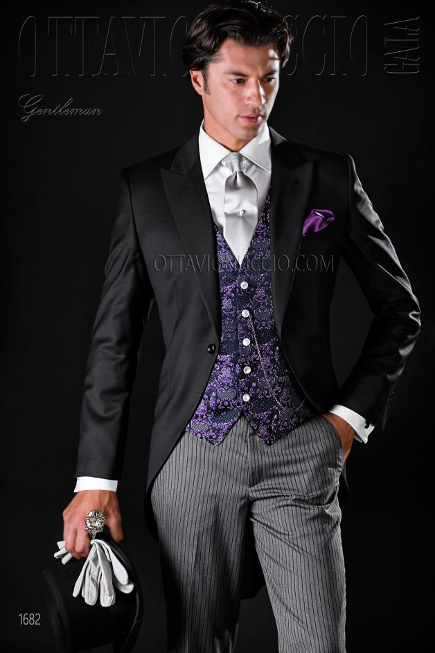 ONGala 1682 - Black morning suit with peak lapel