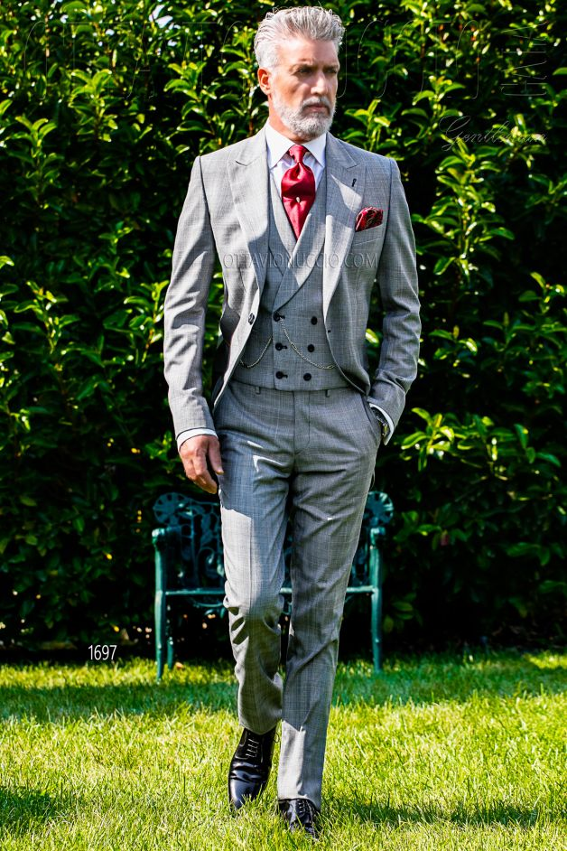 ONGala 1697 - Gray Prince of Wales morning suit