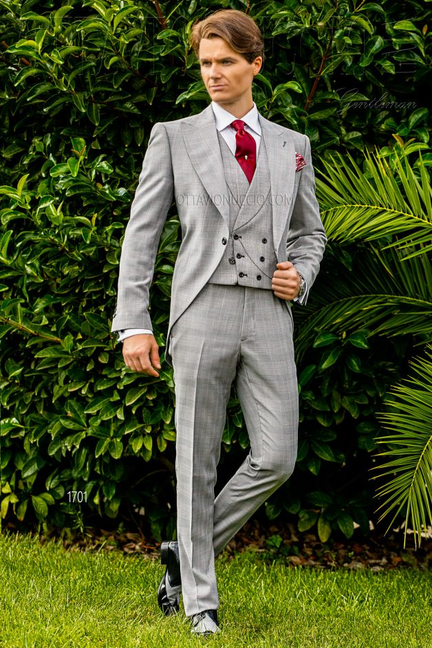 ONGala 1701 - Gray Prince of Wales wedding morning coat
