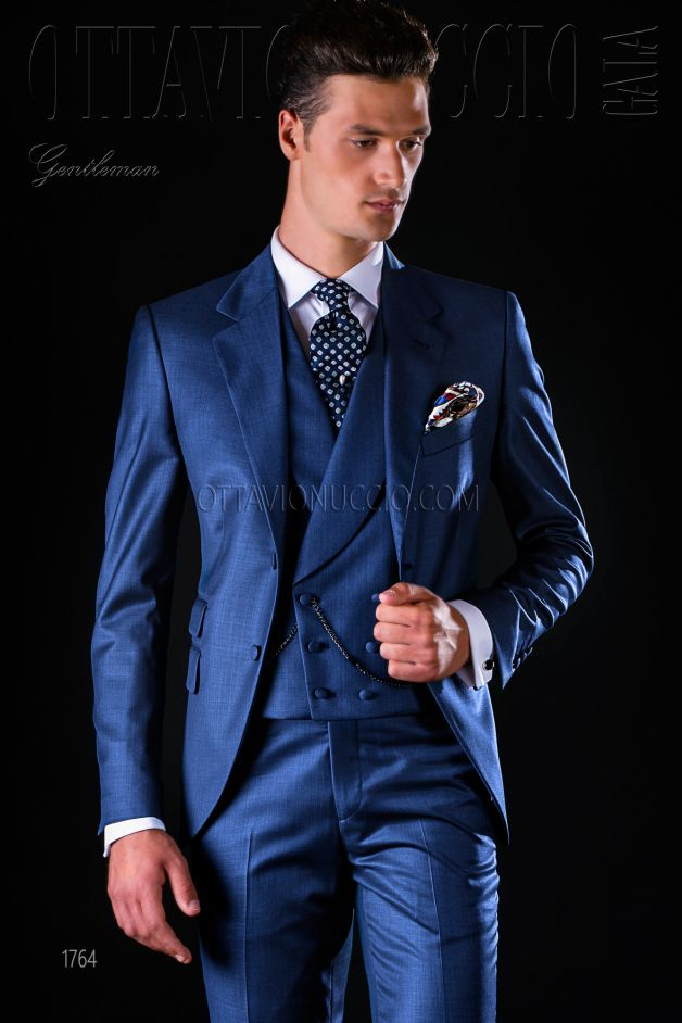 ONGala 1764 - Blue notch lapel Italian business suit