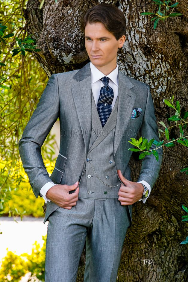 ONGala 1792 - Light gray notch lapel business suit