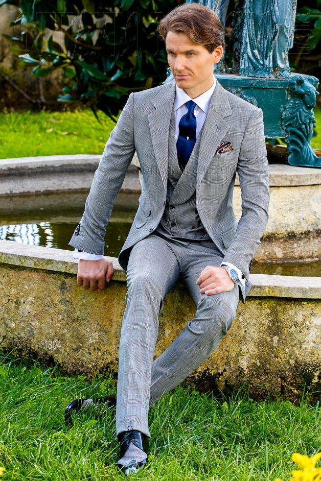 ONGala 1804 - Prince of Wales groom suit in gray