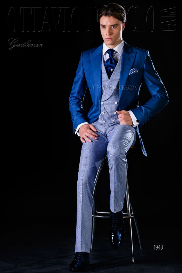ONGala 1943 - Royal blue long tail suit