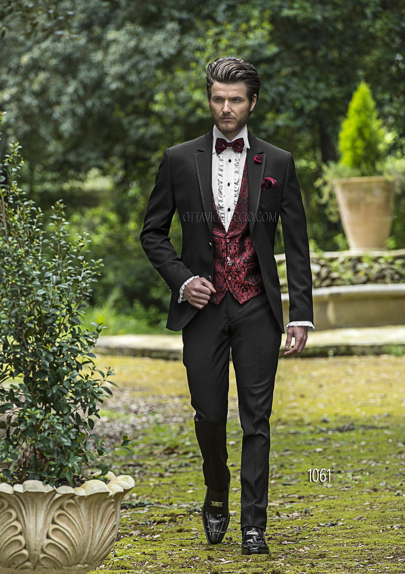 Italienische schwarze hochzeitsanzug for Hochzeitsanzug fliege