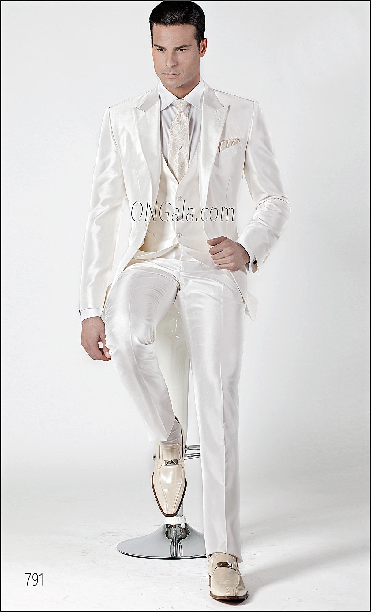 Matrimonio Uomo Bianco : Abito da cerimonia uomo in shantung misto seta bianco