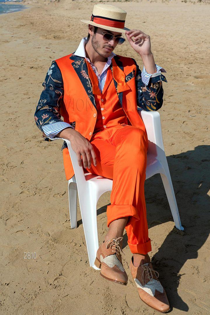 Vestiti Eleganti Uomo Colorati.Abito Uomo Da Cerimonia Estivo 2020 Ottavio Nuccio Gala