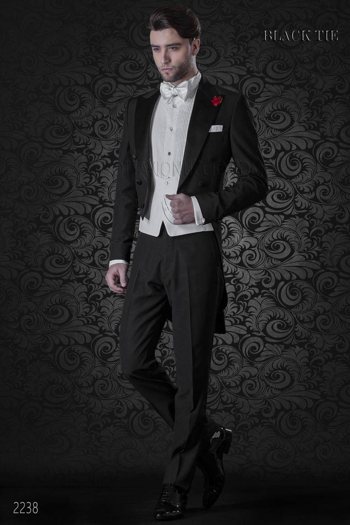 Abiti Da Uomo Eleganti.Frac Nero Per Sposo Moderno Abito Da Uomo Elegante