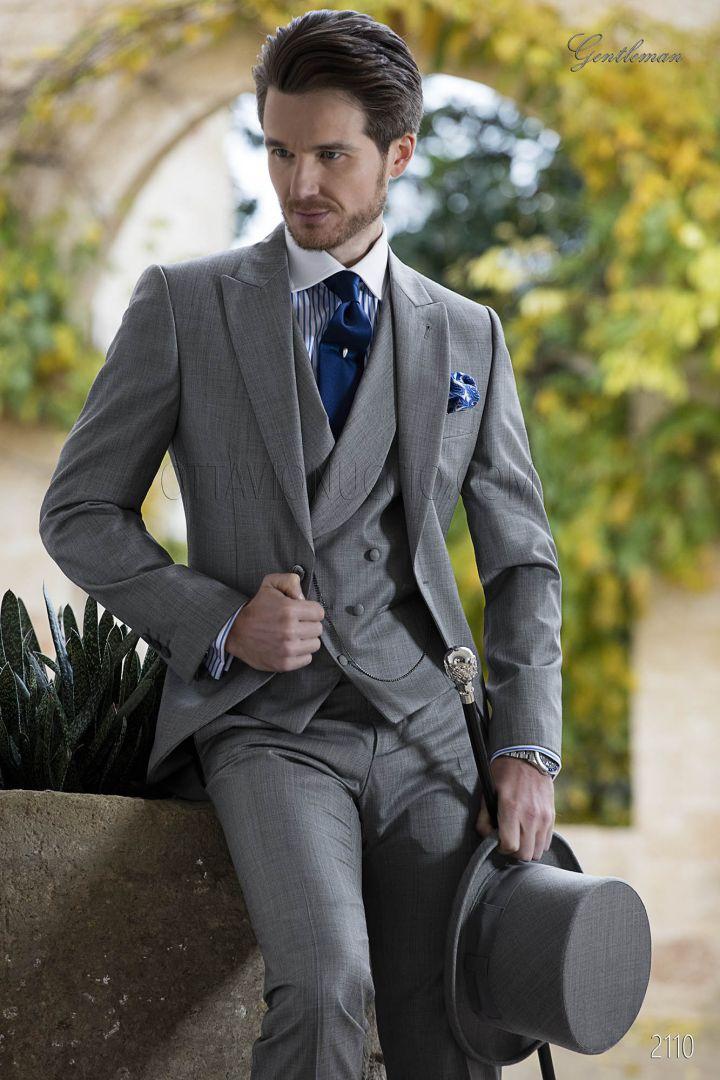 Abito tight fashion, moda sposo grigio