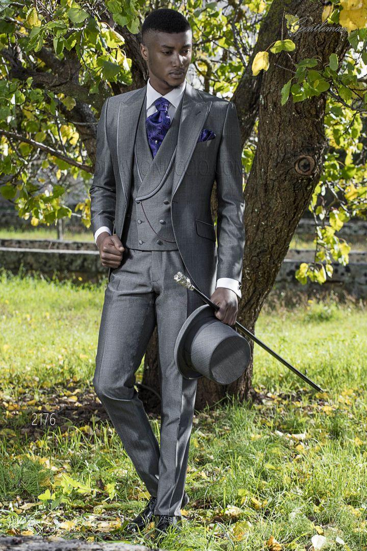 Vestito uomo grigio da sposo demi tight